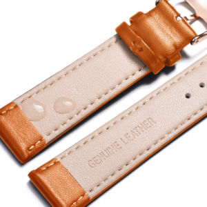 Custom Logo Wholesale Real Leather Strap Men and Women Cuff Watch Strap pictures & photos