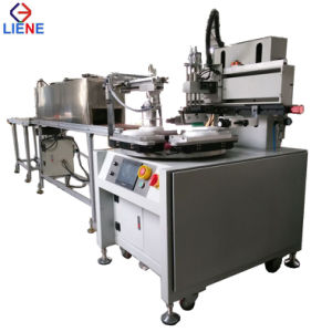 Fully Automatic Flatbed Screen Printing Machine with Rotary Table pictures & photos