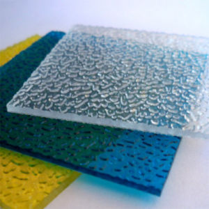 Polycarbonate Embossed Solid Frosted Diamand Color Sheet pictures & photos