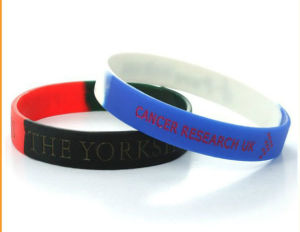 Customized Printed Logo Siliocne Wristband for Gifts (YB-SM-02) pictures & photos