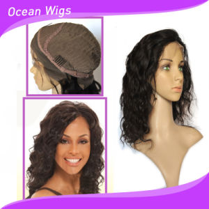 Beauty 14inch Body Wave Lace Front Brazilian Hair Wigs for Lady pictures & photos