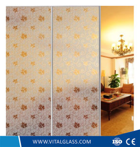 Frosted Acid Etched Glass for Bathroom Glass/Door Glass pictures & photos
