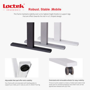 Electric Height Adjustable Single Motor Two Stages Lift Standing Desk pictures & photos