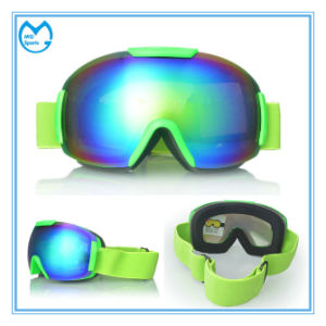 Anti-Impact Mirrored PC Protective Glasses Snowboarding Goggles for Men pictures & photos