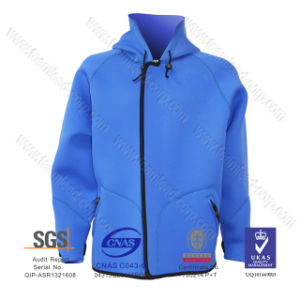 Unisex Hoodie Plus Size Windproof Warm Neoprene Jacket Windcheater Beach pictures & photos