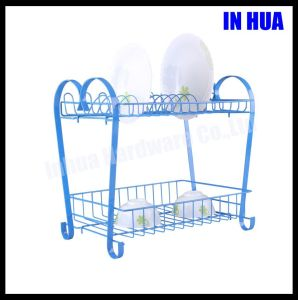 Double Deck Powder Coating Dish Drying Rack