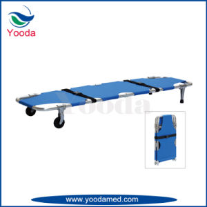 Emergency Foldaway Stretcher with Wheels pictures & photos