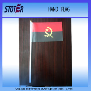 Promotional Custom Hand Stick Flag with Plastic Pole