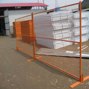 Orange Color Painted Steel Fence Made by Wire Mesh pictures & photos