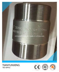 Forged Duplex Stainless Steel Fittings Tbe Threaded Nipple pictures & photos