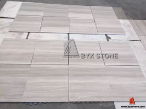 White Wood Vein Marble Tiles for Wall and Floor pictures & photos