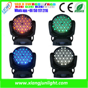 New Zoom 108PCS 3W RGBW LED Wash Moving Head pictures & photos