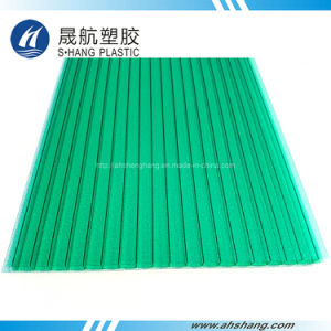 Frosted Green Yellow Polycarbonate Plastic Hollow Board pictures & photos