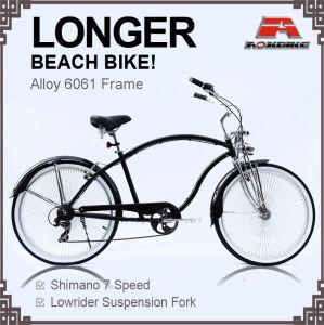 Alloy Frame 7 Speed Longer Beach Cruiser Bike for Men (ARS-2685S-1) pictures & photos