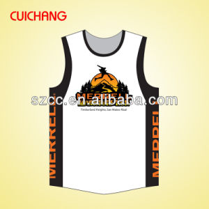 Singel, Tank Top, Wholesale Polyester Heat Transfer Printing Custom Design Custom Design Gym Singlets Bx-038 pictures & photos