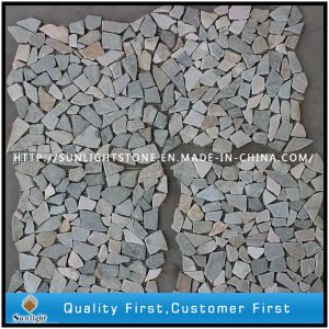 Natural Mixed Color Slate Mosaic Tile for Wall pictures & photos