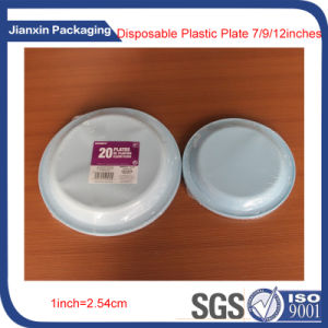 7/9 Inches Disposable Plastic BBQ Plate pictures & photos