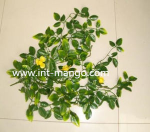 UV Proof Plastic Artificial Yellow Flower for Fence Decoration (MW16029) pictures & photos
