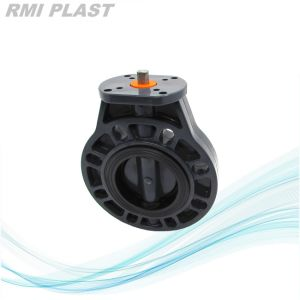 Wafer PVC Plastic Butterfly Valve by JIS pictures & photos