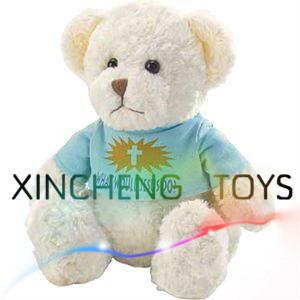 White Teddy Bear, Plush Bear with T-Shirt, Plush Toy