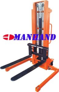 Straddle Leg Adjustable Fork Manual Stacker