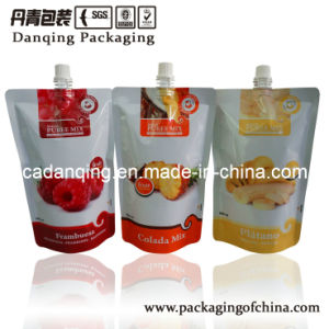 Juice Bag, Stand up Pouch with Middle Nozzle, Plastic Packaging pictures & photos