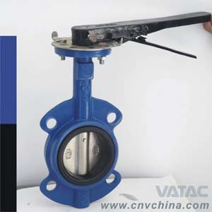 Vatac Cast Steel Wafer Type Butterfly Valve pictures & photos