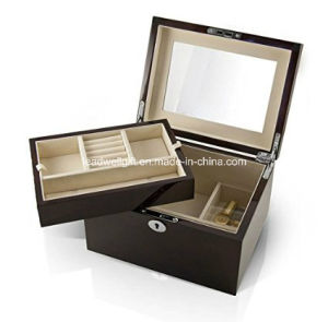 Modern High Gloss Coffee Tone Wooden Jewelry Gift Packaging Box pictures & photos