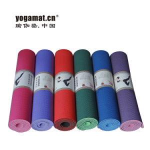 Eco Dual Layers TPE Yoga Mat with SGS Certification pictures & photos