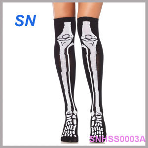 Fashion Hot Sell Skeleton Knee High Socks for Women pictures & photos