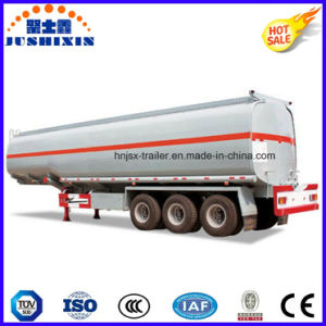 3 Axis 42000 Liters Carbon Steel Fuel/Oil Tanker with 1 Silo pictures & photos