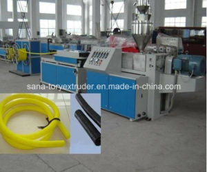 Plastic PVC PE Single-Wall Corrugated Pipe Extruder Machine pictures & photos