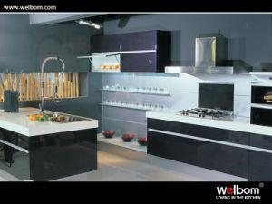 recent new design alumnium handle kitchen cabinet - New Design Kitchen Cabinet