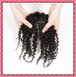 Hot Sale Human Hair Lace Closure Deep Curly 16inches pictures & photos