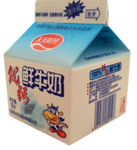 182ml Fresh Milk Gable Top Carton with 3 Layers pictures & photos