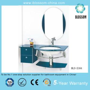 Glass Bathroom Corner Sink Vanity (BLS-2164) pictures & photos