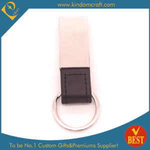 High Quality Wholesale Metal Attachment Leather Key Ring for Activity or Brand Publicity pictures & photos
