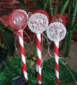Set of 4 Solar Xmas Candy Cane Light pictures & photos