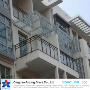 Clear Toughened/Tempered Glass for Balcony/Skylight/Door pictures & photos