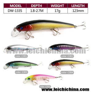5 Color Per Set 17g 123mm Three Hooks Deep Water Fishing OEM Lure pictures & photos
