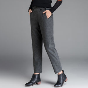 High Quality Lady Casual Daynap Drawstring Pants with Fashion Design pictures & photos
