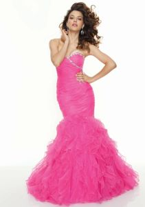 2013 Latest Style Organza Beaded Mermaid Prom Dresses (PD3015) pictures & photos