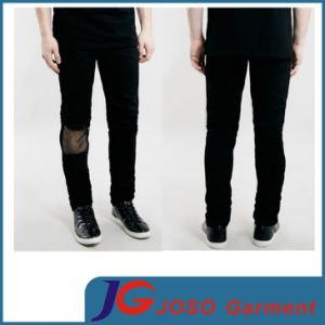 Fashion Knee Lac Black Men Trendy Skinny Jeans (JC3340) pictures & photos