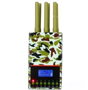 Portable High Power Jammer Block Mobile Cell Phone with Cool Fan and LCD Display Screen