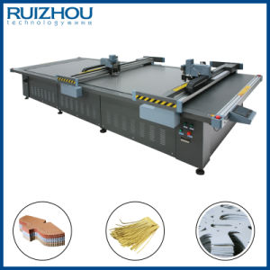CNC Dual Head Footwear Leather Cutting Machine pictures & photos