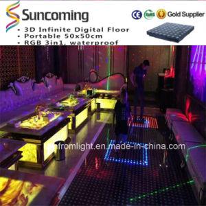 Slim Rechangeable Interactive Lighting RGB Color LED Dance Floor pictures & photos