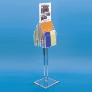Customize Clear Acrylic Brochure Menu Poster Stand pictures & photos