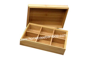 Bamboo Tea Box Organizer Storage Hb302 pictures & photos