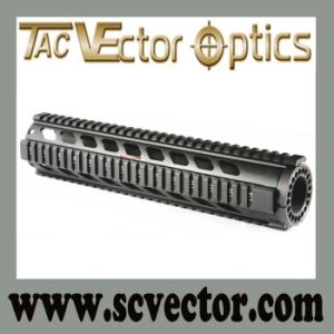Vector Optics Tactical T-Series Diamond Cutout Rifle Style Full Metal Free Float 12′′ Handguard Quad Rail pictures & photos