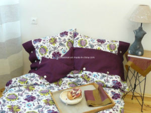 Bed Linens with Full Screen Printed Flower (BL-011)